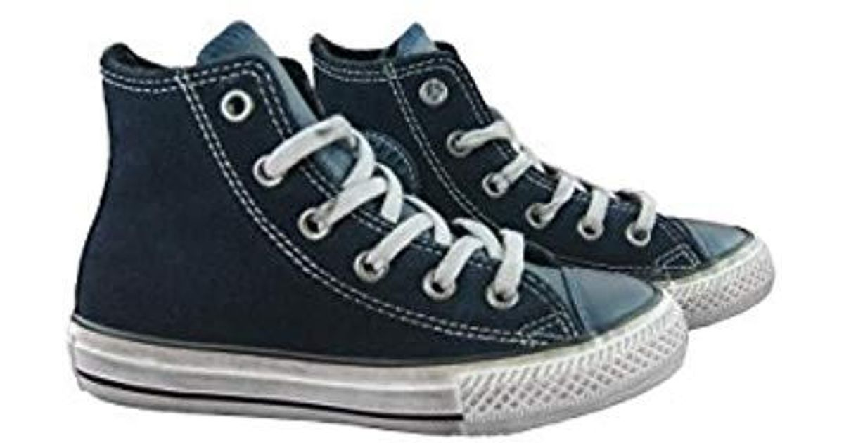 info for a763f 28ce0 Converse - Blue Chuck Taylor Distressed Hi Scarpe Blu Ragazzo Ragazza  658982c for Men - Lyst