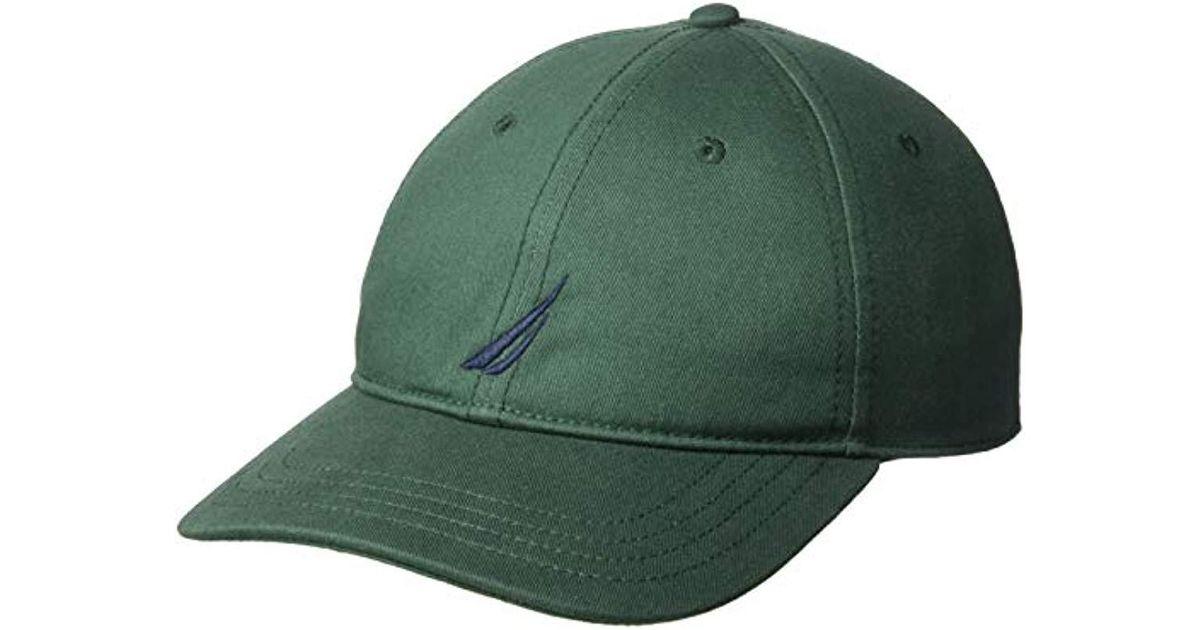 ae874ddf Nautica Classic Logo Adjustable Baseball Cap Hat in Green for Men - Save  20% - Lyst