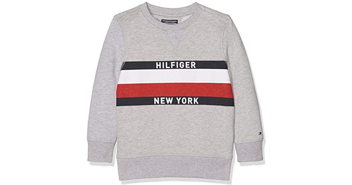 Tommy Hilfiger Boy s Ame Hilfiger Cn Hwk L s Sweatshirt in Gray for Men -  Lyst 3e9c1bbb890b