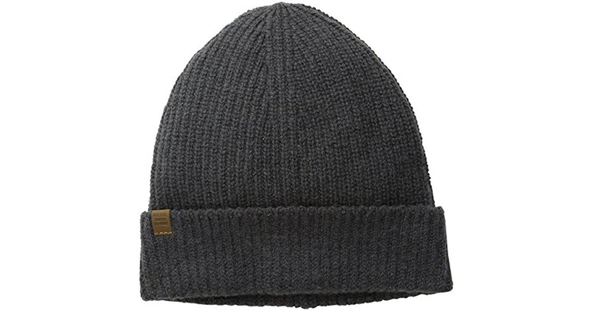 61caa890328 Lyst - Herschel Supply Co. Cardiff Knit Beanie in Gray for Men - Save  55.4054054054054%
