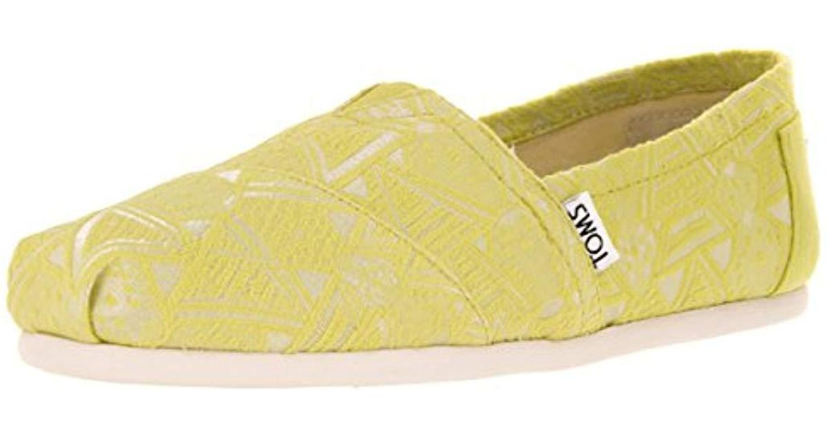 2533c982af78d TOMS - Yellow Navy Canvas Classic 001001b07-nvy for Men - Lyst