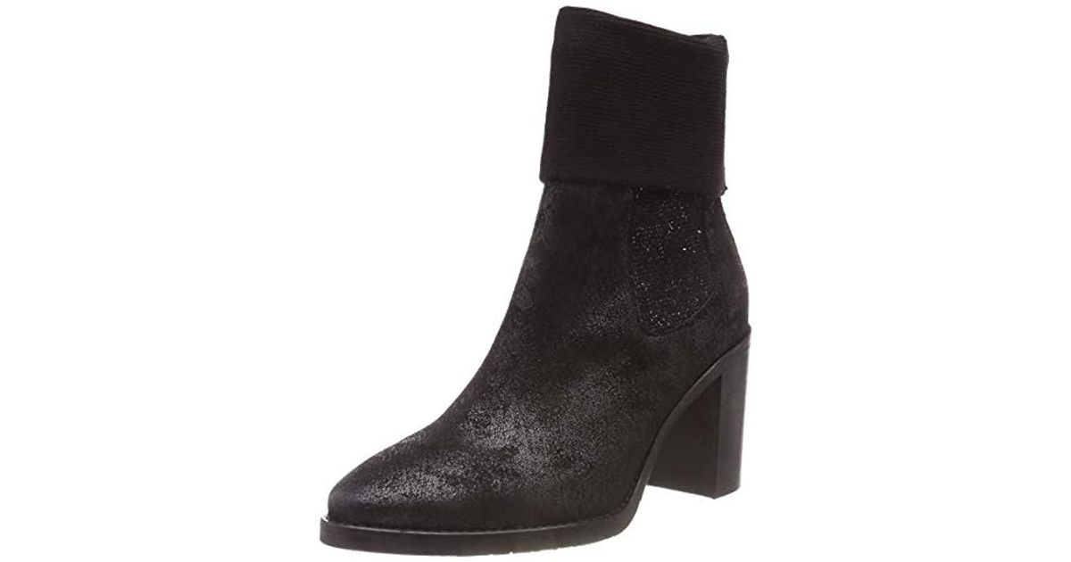 d1c519c94912d Tommy Hilfiger  s Knitted Sock Heeled Boot Shiny Slouch in Black - Lyst