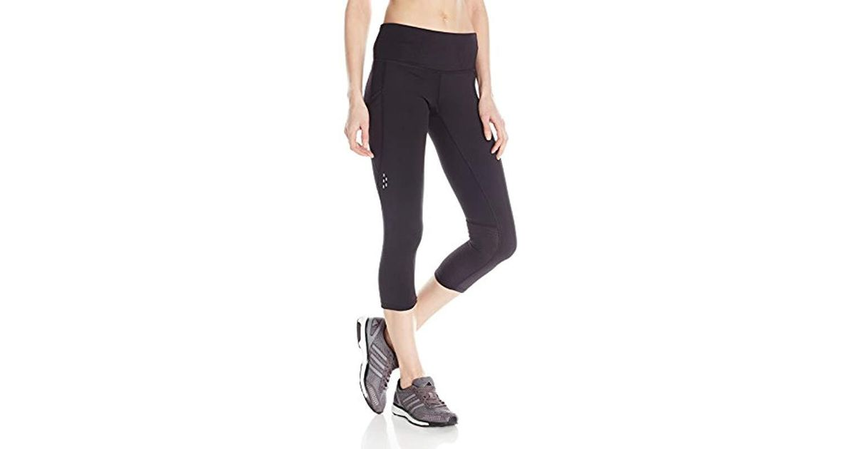 b95f3e6118a8 Lyst - Champion 6.2 Double Dry Performance Capri Legging in Black