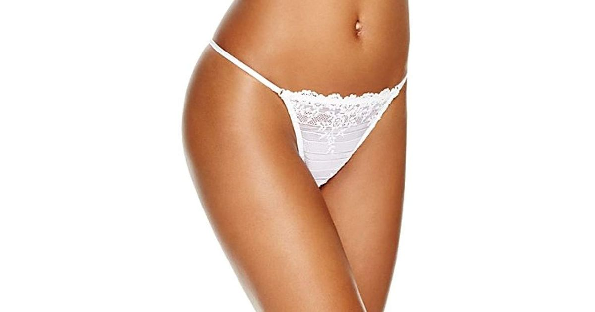 80a0c6e8ac62 Wacoal Embrace Lace Thong Pant in White - Lyst