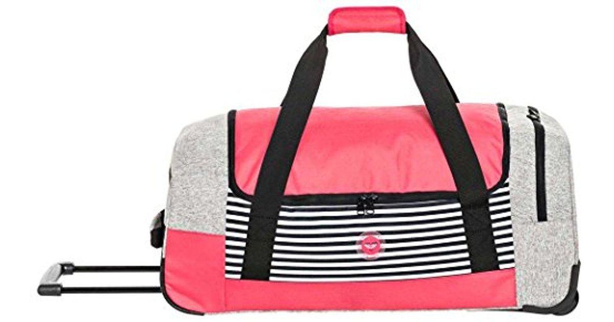 Lyst - Roxy Distance Across Roller Luggage Bag in Red de6093708f