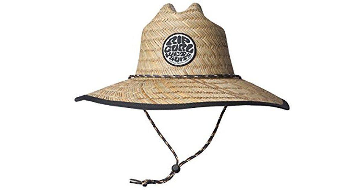 c0c7f76b981 Lyst - Rip Curl Paradise Straw Lifeguard Sun Hat for Men