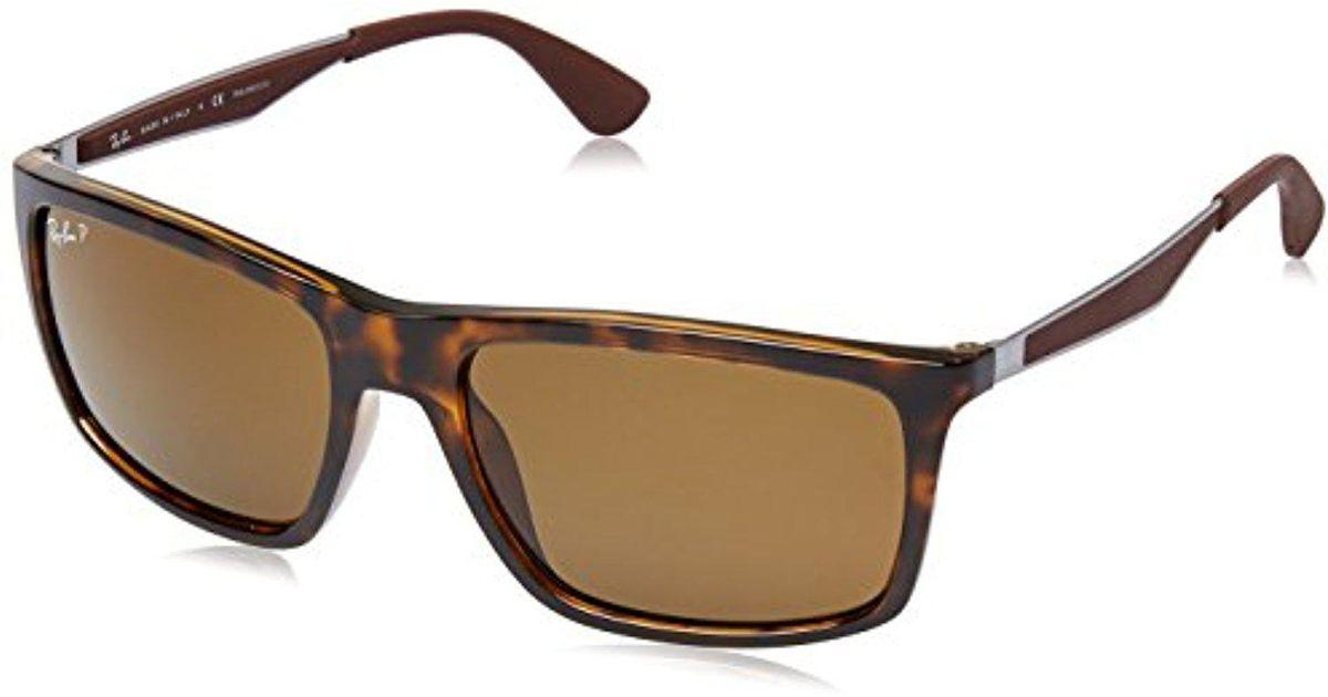 39084ac0fe3 Lyst - Ray-Ban Injected Man Sunglasses - Light Havana Frame Polar Brown  Lenses 58mm Polarized in Brown for Men