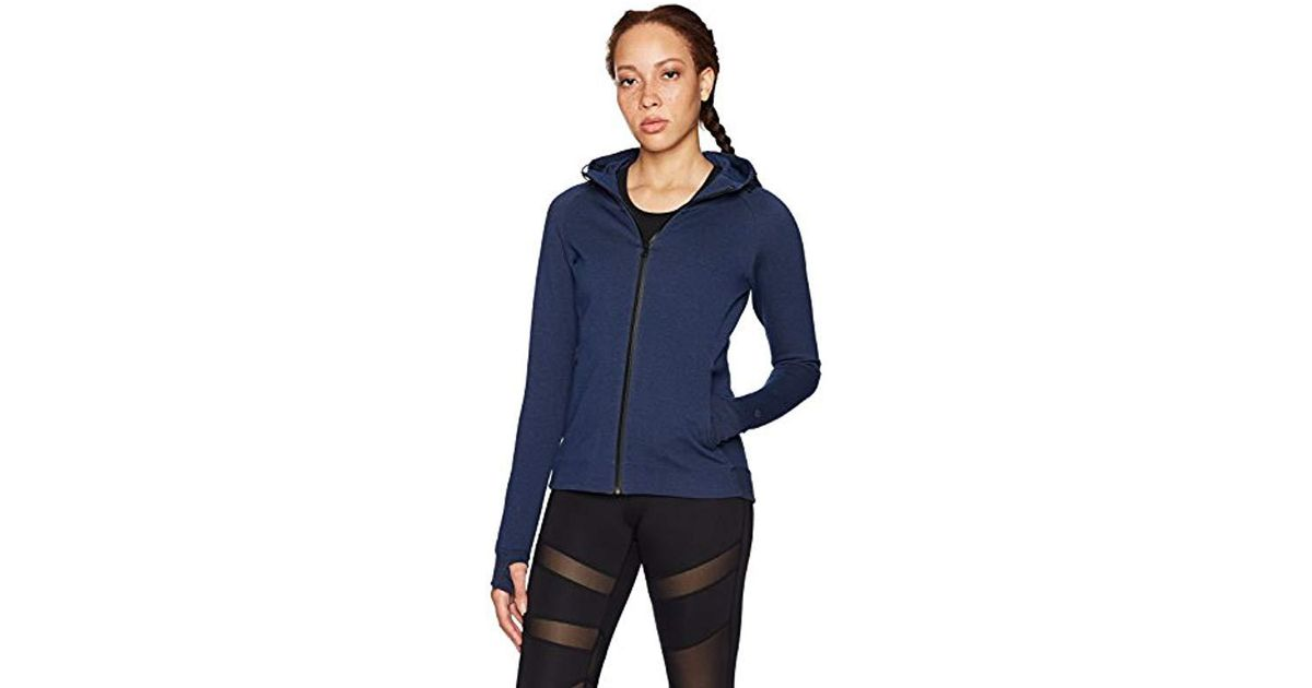 278a24ca3f22c Lyst - Core 10 (xs-3x) Motion Tech Fleece Fitted Peplum Full-zip Hoodie  Jacket in Blue - Save 31%