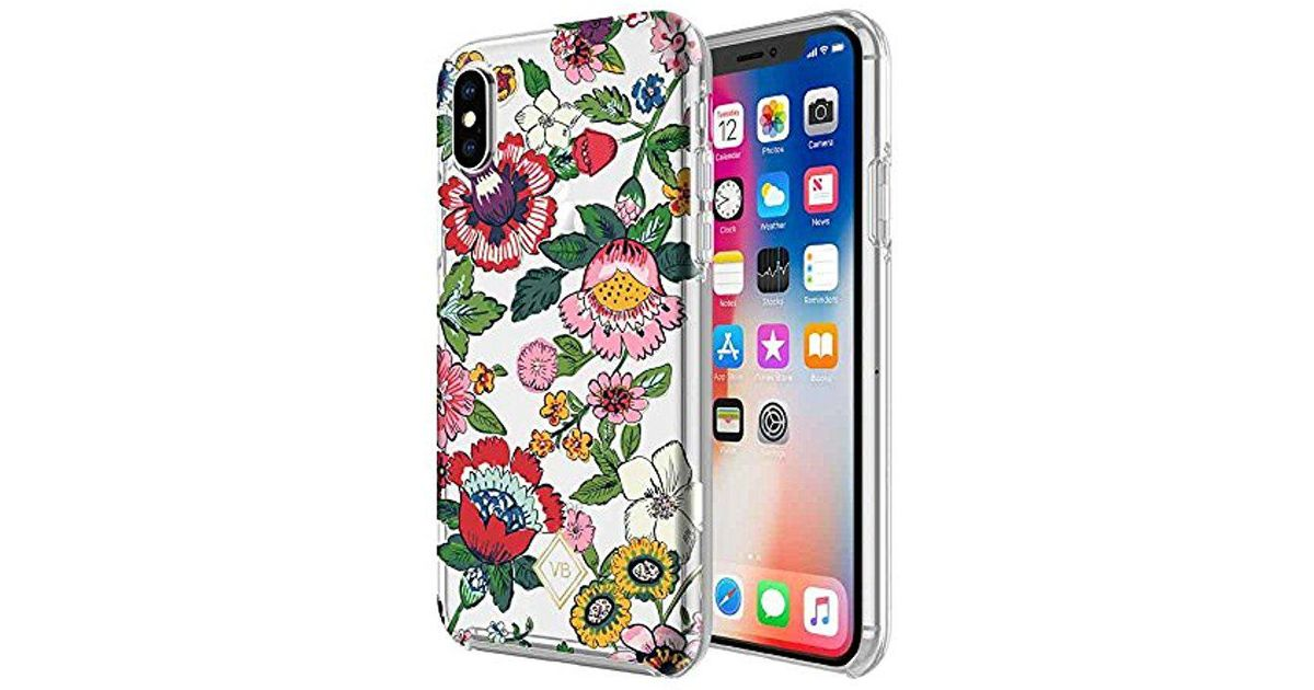 Lyst - Vera Bradley Flexible Frame Case For Iphone X - Coral Floral ...