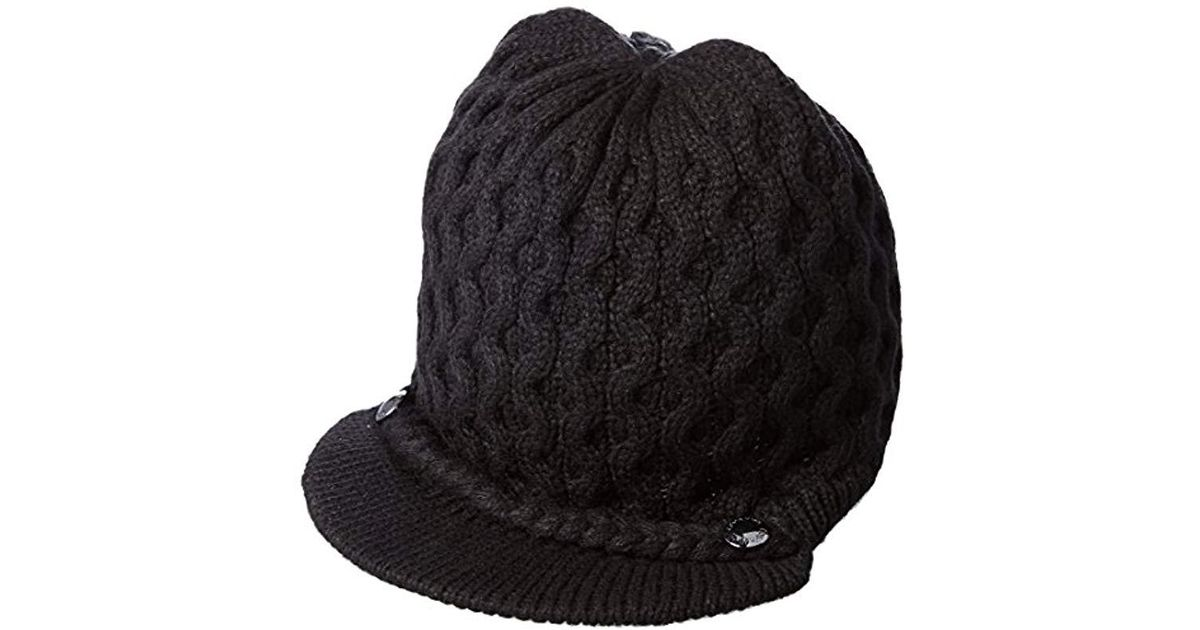 f7eadfe0 Lyst - Calvin Klein Honeycomb Cable Cabbie in Black
