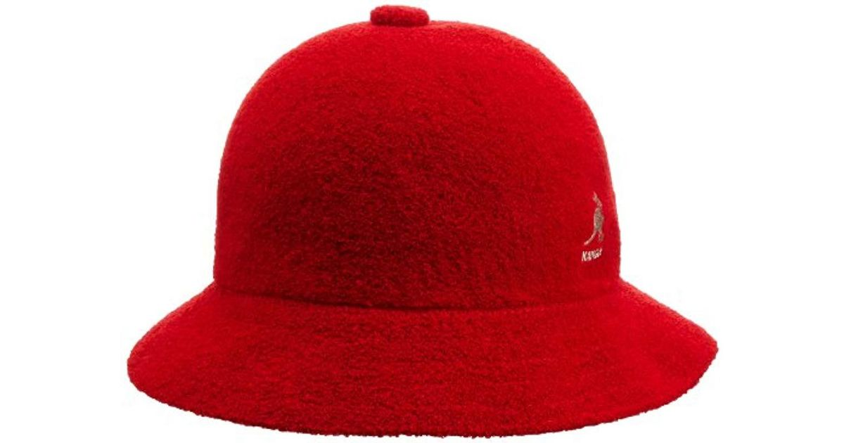 d0cc7d867 Kangol - Red Bermuda Casual Bucket Hat Classic Style for Men - Lyst