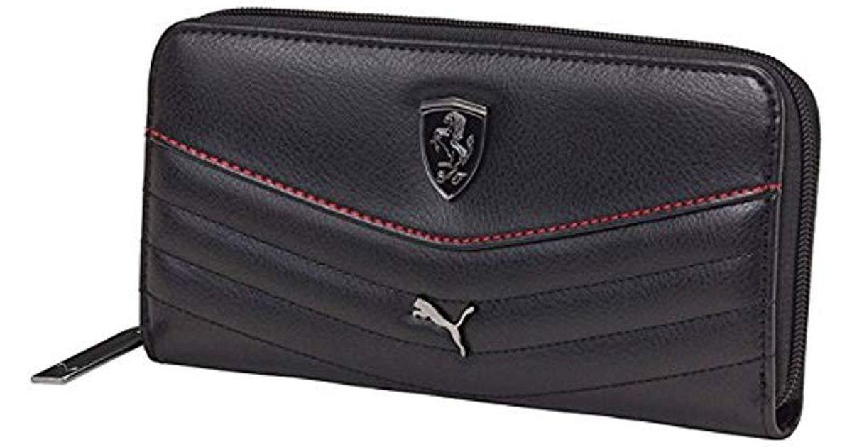 Lyst - PUMA Ferrari Ls Wallet F 073944 in Black - Save 10% 6252093474ab7