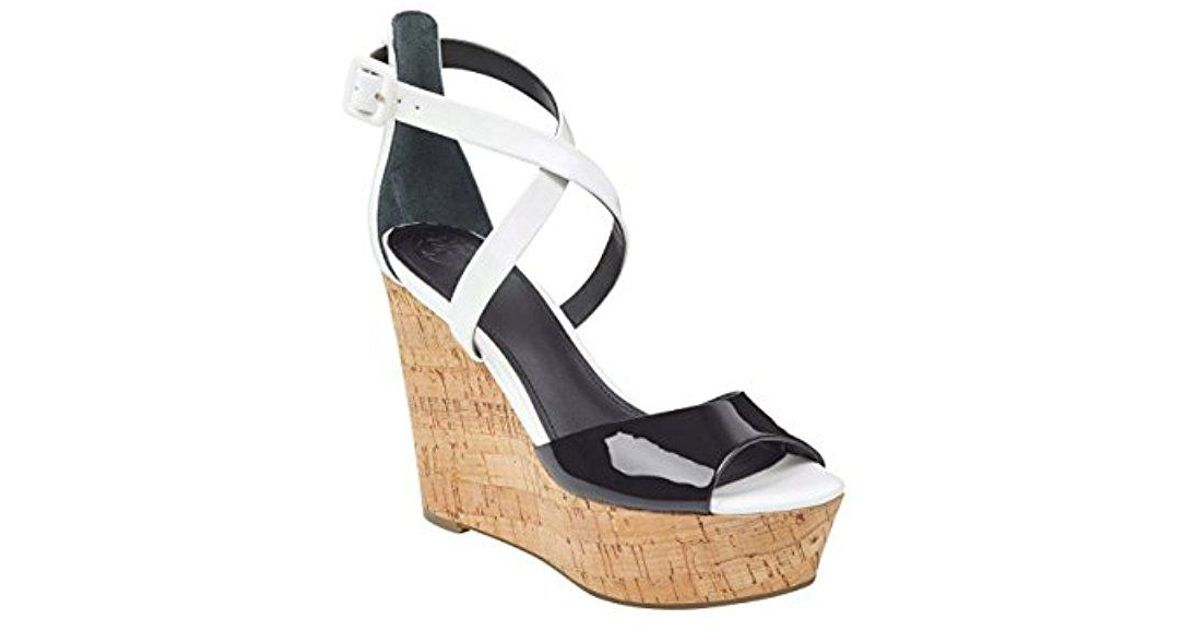 c61f96f79f7b Lyst - Guess Gacinta Wedge Sandal in Black