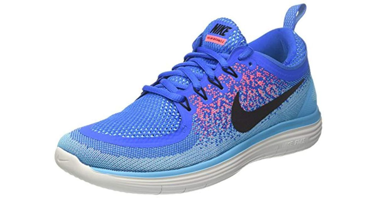 new concept 9eb7b 23899 Nike - Blue Free Rn Distance 2 Running Shoes for Men - Lyst