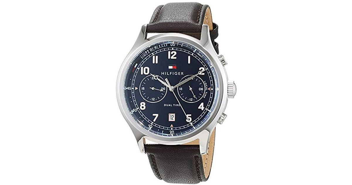 Lyst - Reloj Análogo clásico para Hombre de Cuarzo con Correa en Cuero  1791385 Tommy Hilfiger de hombre de color Azul 91e7422e110e