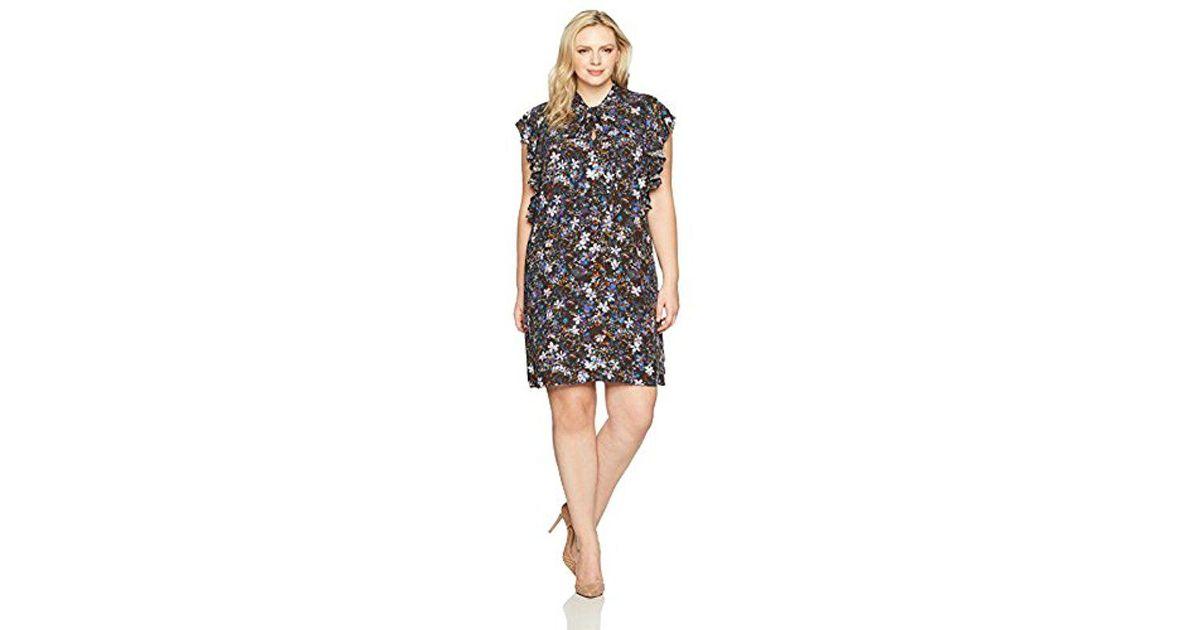 Lyst Rachel Rachel Roy Plus Size Ruffle Tie Dress In Black