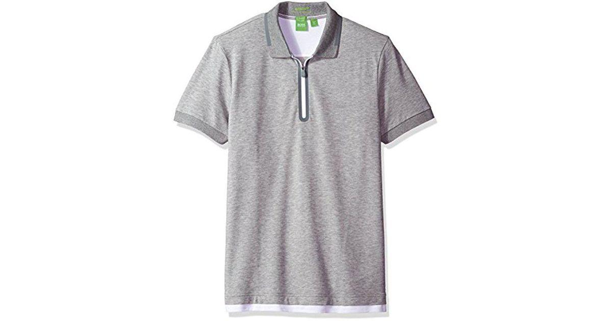 1ce177197 Lyst - BOSS Boss Green Pariq Polo Shirt in Gray for Men