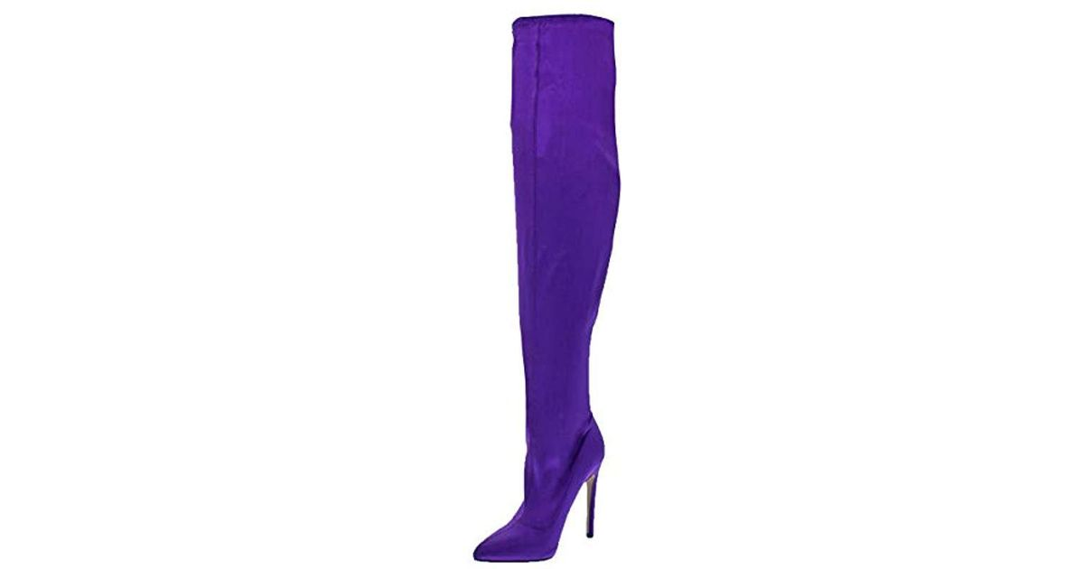 0022a8300c0 Lyst - Steve Madden Slammin Over The Knee Boot in Purple