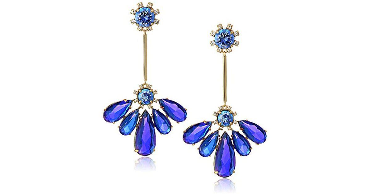 Lyst Kate Spade Sapphire Drop Earrings