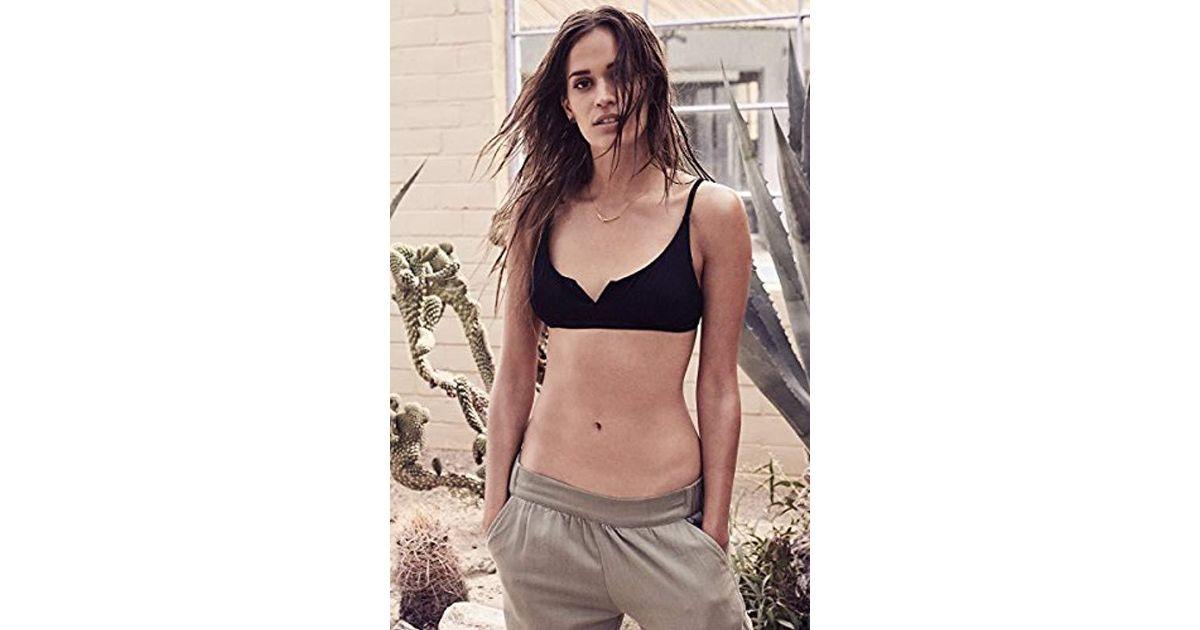 34dd822638 Lyst - Rvca Coast Side Bralette Bikini Top in Black
