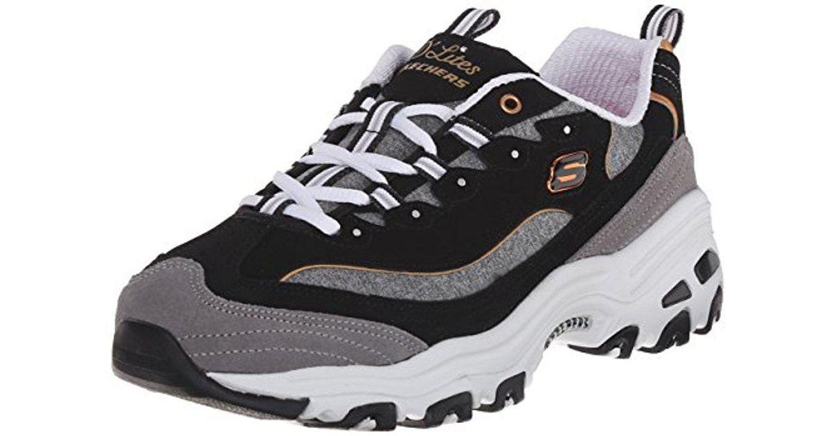 9a537ba68651 Lyst - Skechers Sport D lites Memory Foam Lace-up Sneaker