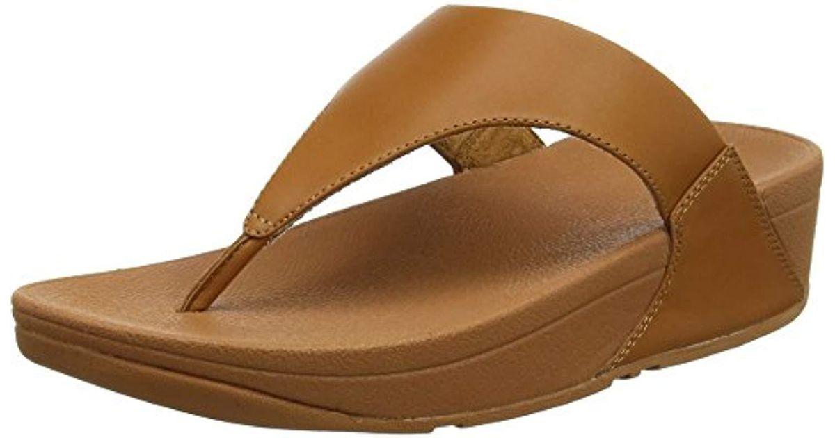440b44c543112f Lyst - Fitflop Lulu Thong Sandal in Brown