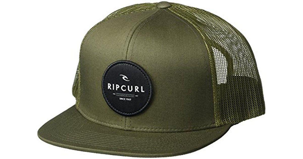 Lyst - Rip Curl Patch Trucker Mesh Hat b60e02469bb