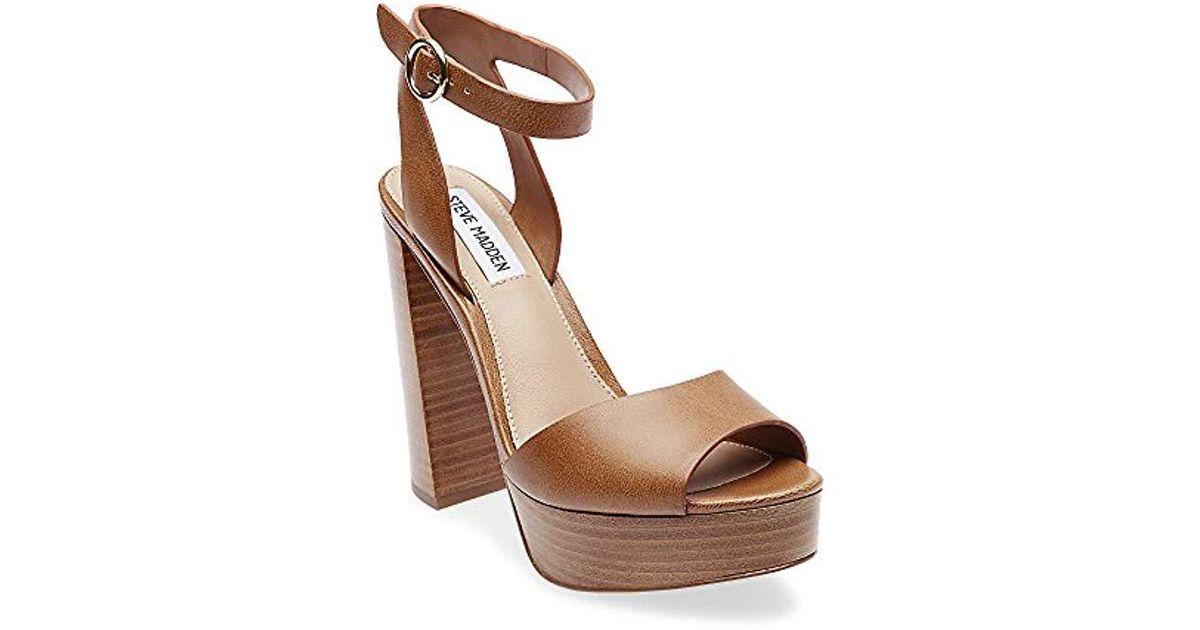 afbf170eb296 Lyst - Steve Madden Madeline Heeled Sandal in Brown