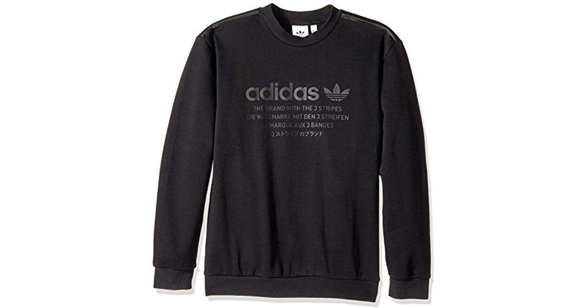 b40a0e9c42b83 Lyst - adidas Originals Nmd Crew Sweatshirt in Black for Men