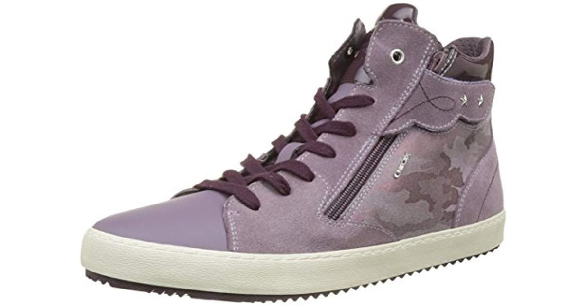 f203bd22c20e17 Geox Unisex Adults' J Kalispera Girl D Hi-top Trainers in Purple - Lyst