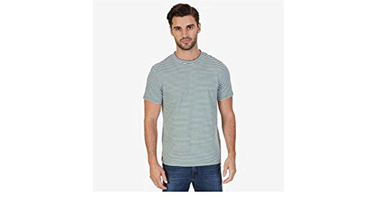 3ad7686285 Lyst - Nautica Short Sleeve Slim Fit Striped Crew Neck T-shirt for Men