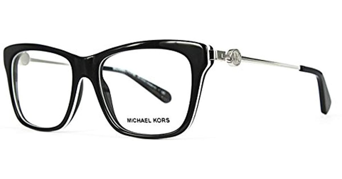 3f9dc326e482 Michael Kors Abela Iv Glasses In Dark Tortoise Mk8022 3135 52 in Black -  Lyst