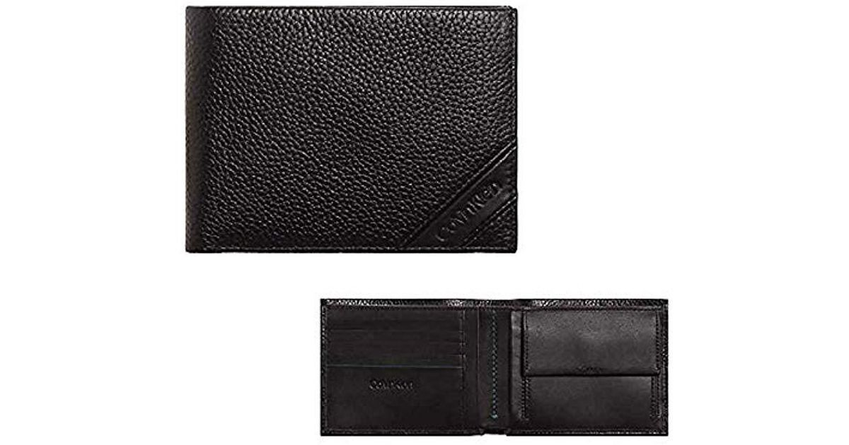 nuovo di zecca 8bea4 3df84 Calvin Klein - Black Portafoglio Uomo K504260 Pebble 5cc Nero for Men - Lyst