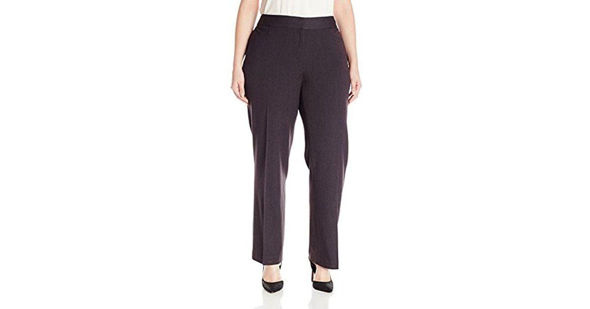 0e84a49b826 Lyst - Rafaella Plus Size Curvy Fit Gabardine Slim Leg Pant - Save 23%