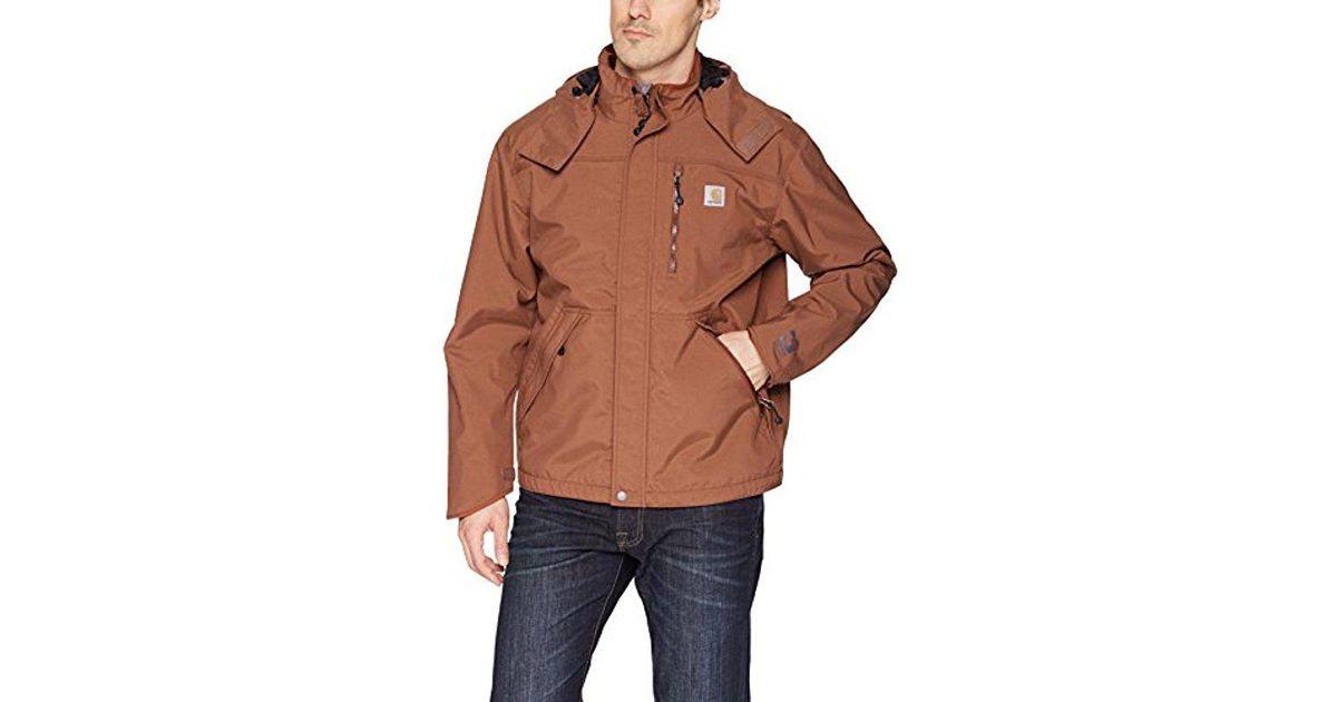 1e3cae4de Carhartt Shoreline Jacket Waterproof Breathable Nylon in Brown for Men -  Save 25% - Lyst