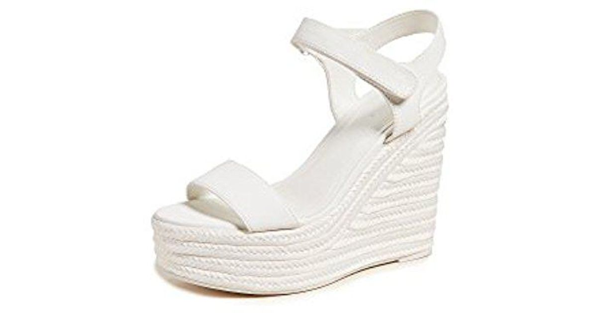 ebbeebc3a Kendall + Kylie Grand Wedge Espadrilles in White - Lyst