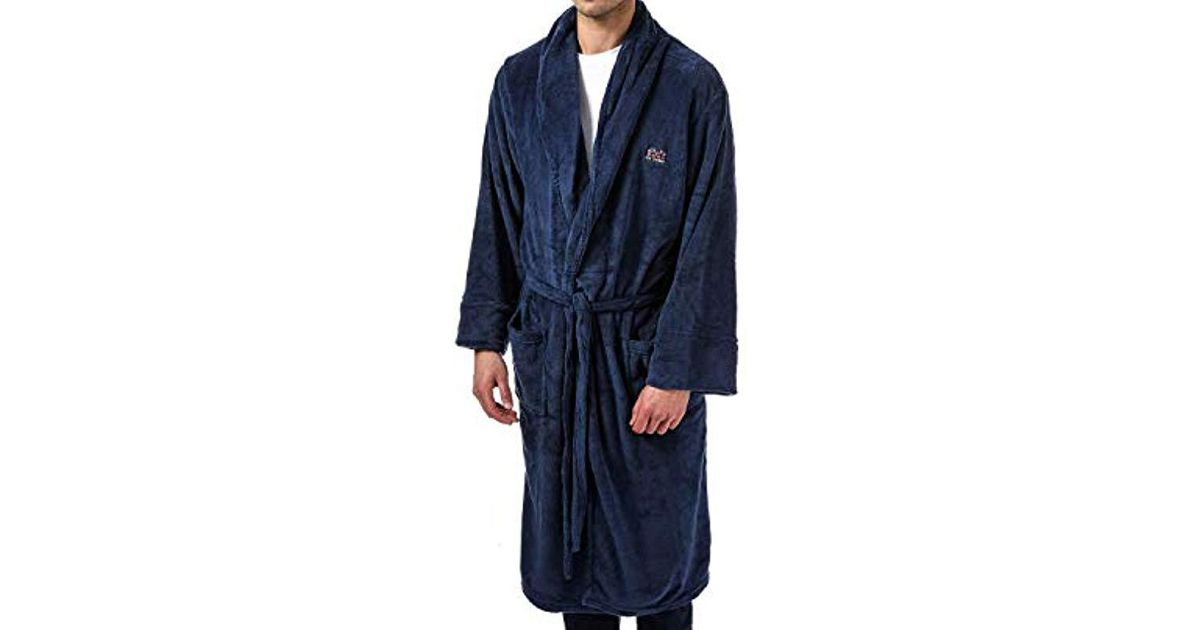 Ben Sherman Henry Dressing Gown in Blue for Men - Lyst 5906ad9db