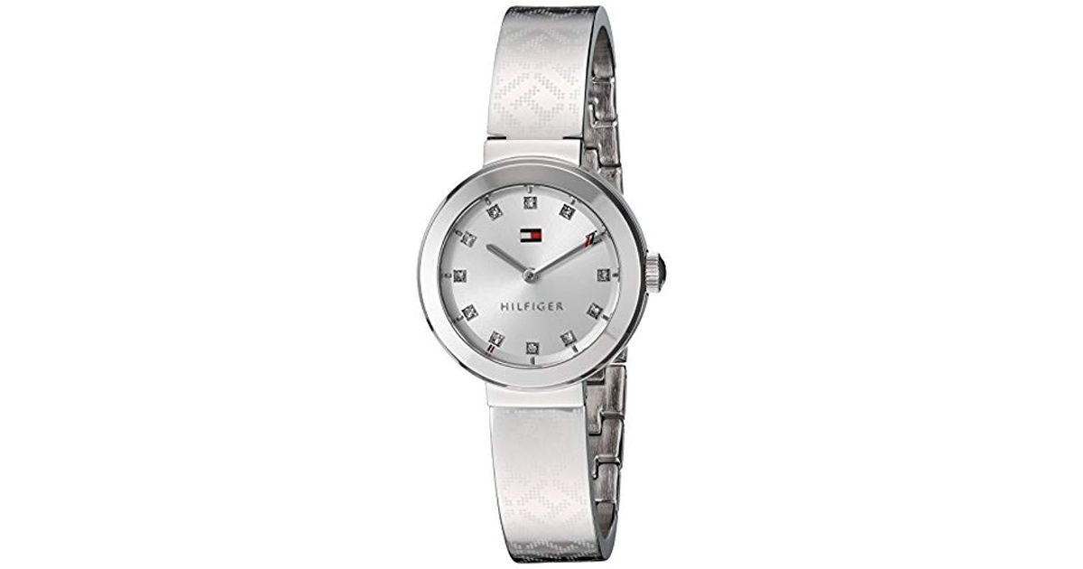 2bce836c Tommy Hilfiger Quartz Stainless Steel Casual Watch, Color:silver-toned  (model: 1781714) in Metallic - Lyst