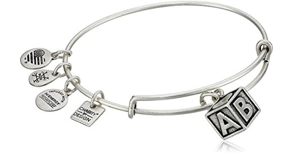 Lyst Alex And Ani Charity By Design Baby Block Bangle Bracelet In Metallic