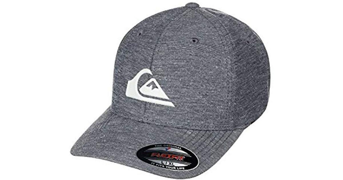 new concept d7f9f 3b736 Lyst - Quiksilver Union Stretch Cap Hat in Black for Men