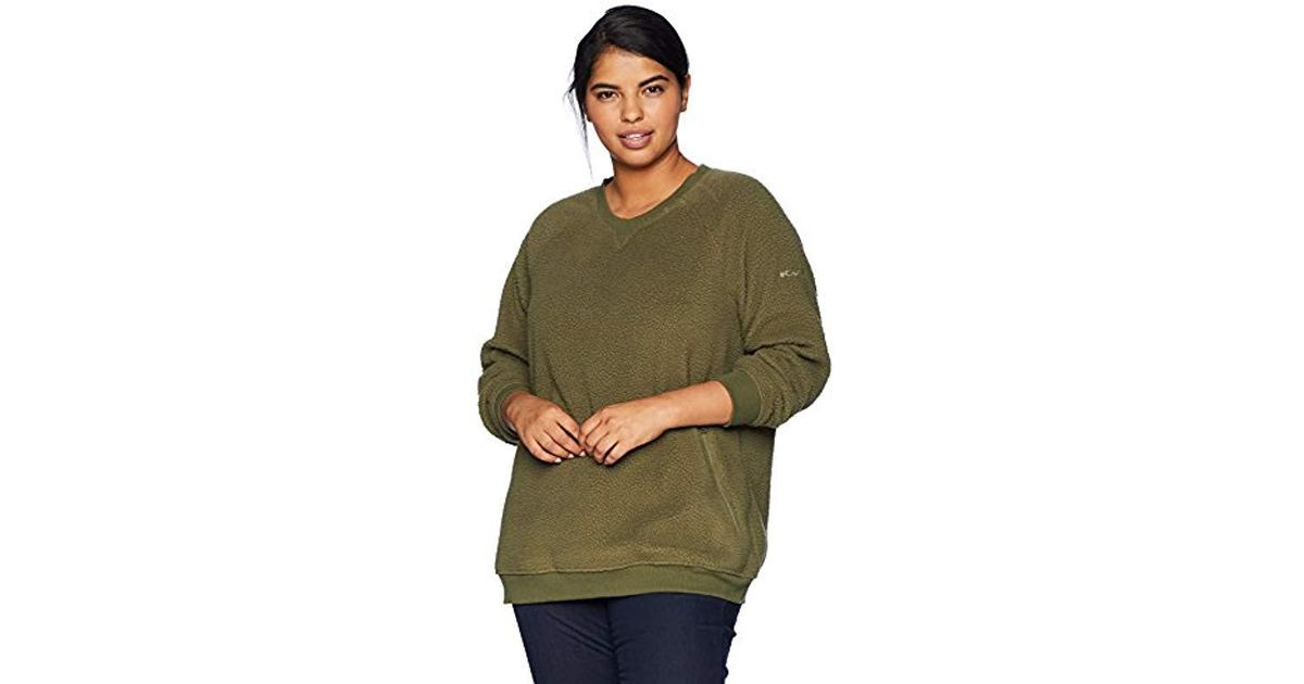 074b3d9c947 Lyst - Columbia Plus Size Feeling Frostytm Sherpa Pullover in Green - Save  19%