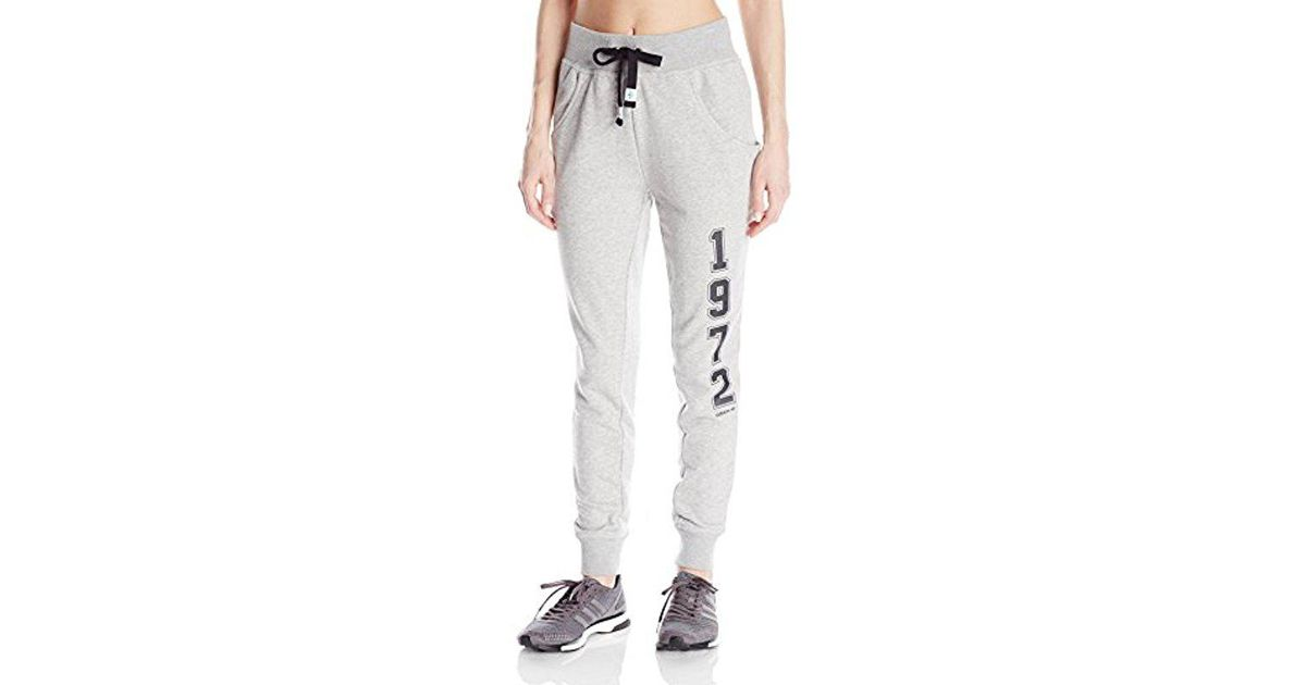 0d1298afa06e3 Lyst - Adidas Originals Super Logo Essential Baggy French Terry Track Pant  in Gray