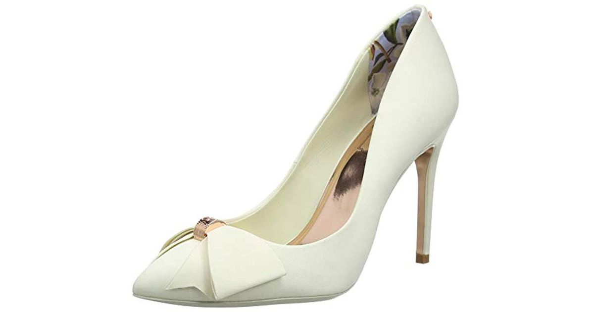 f91aa1468fe Ted Baker Skalet 2 Closed Toe Heels in White - Lyst