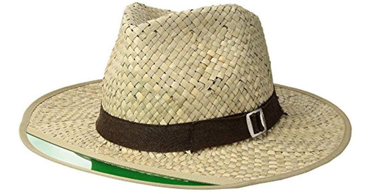 58bf949d376cb Lyst - Brixton Hunter Medium Brim Straw Fedora Hat for Men