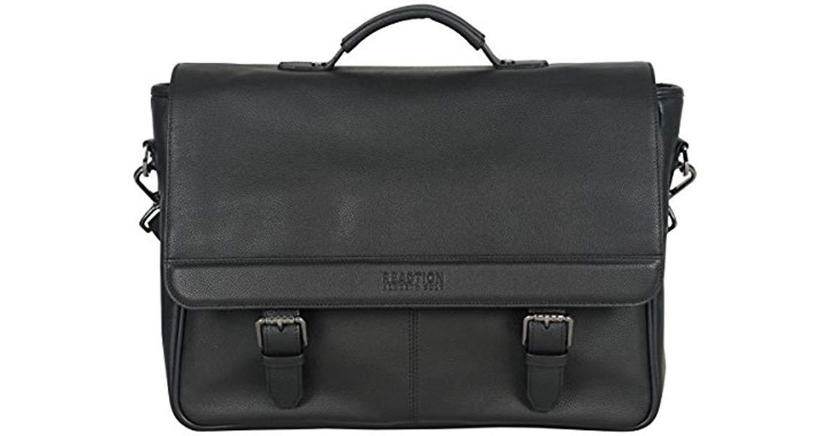 cec3f0a60 Lyst - Kenneth Cole Reaction Leather Single Compartment Flapover 15.0