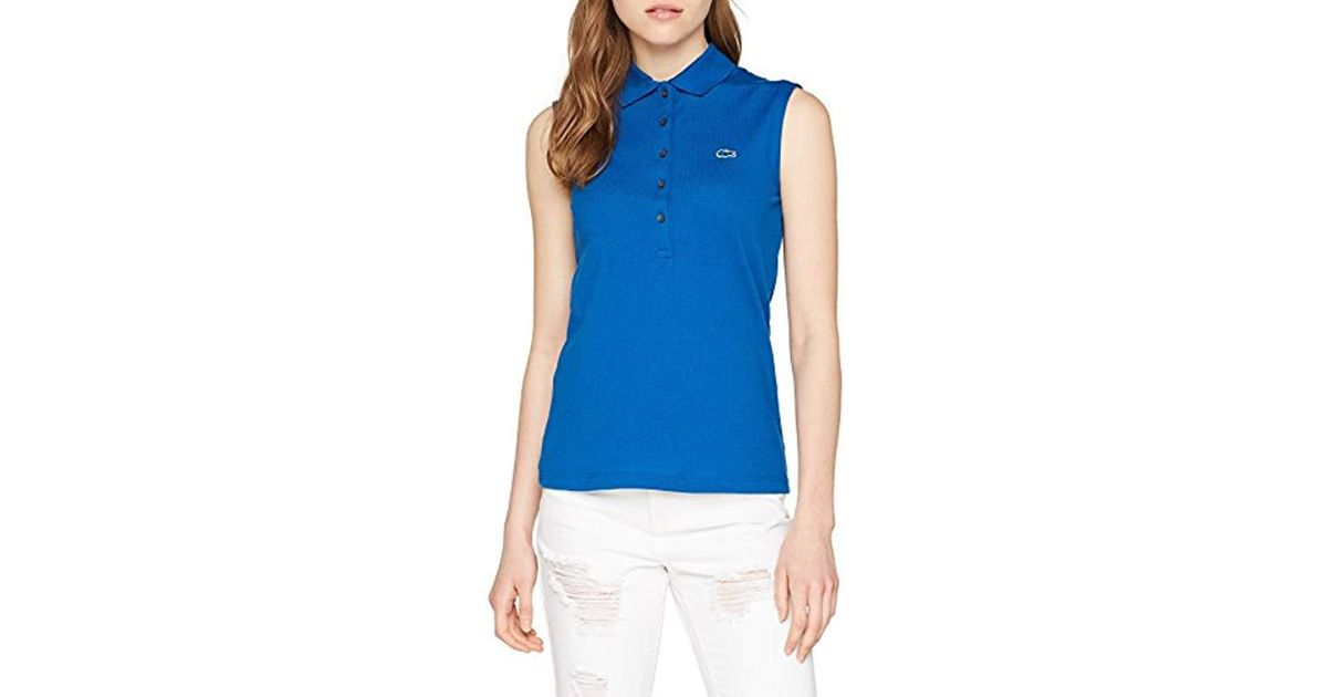 aac23af5860 Lacoste Polo Shirt Blue in Blue - Lyst