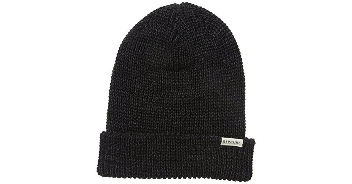 Lyst - Rip Curl Enter Beanie in Black for Men - Save 44% 542ff839bf8e