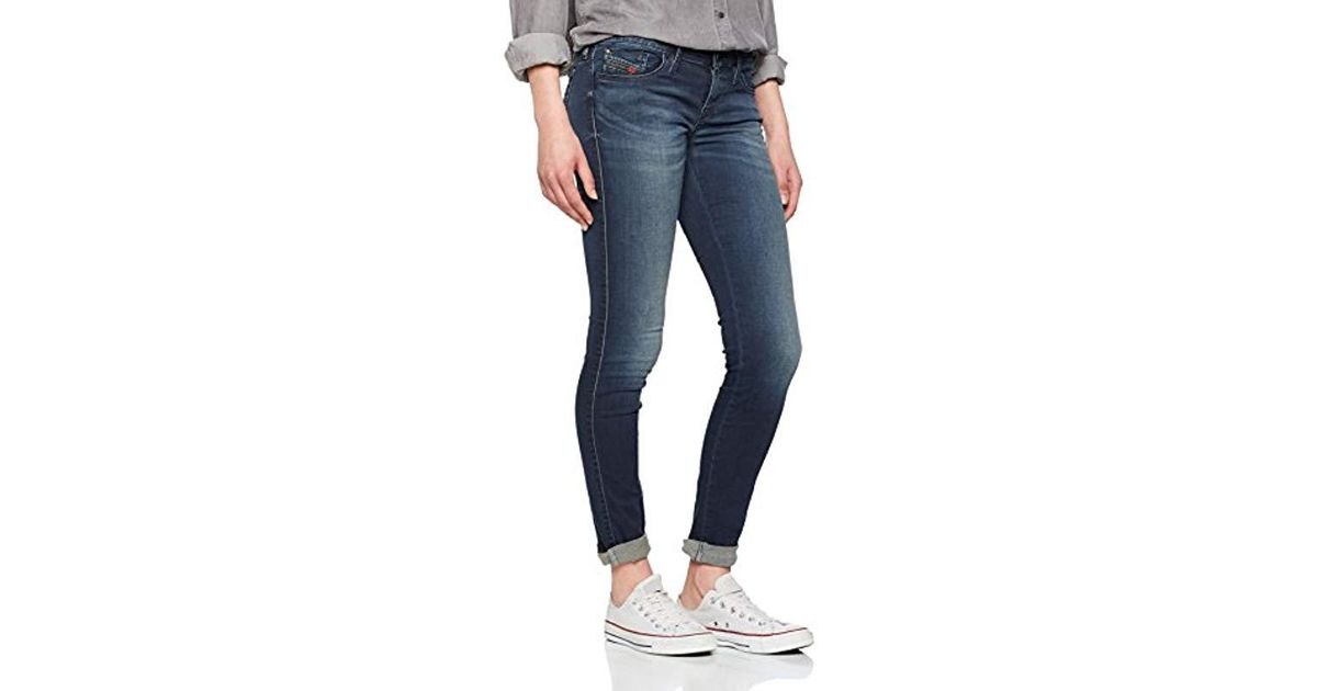 dabe28ba3d5 DIESEL Skinzee-low Pantaloni Skinny Jeans in Blue - Lyst