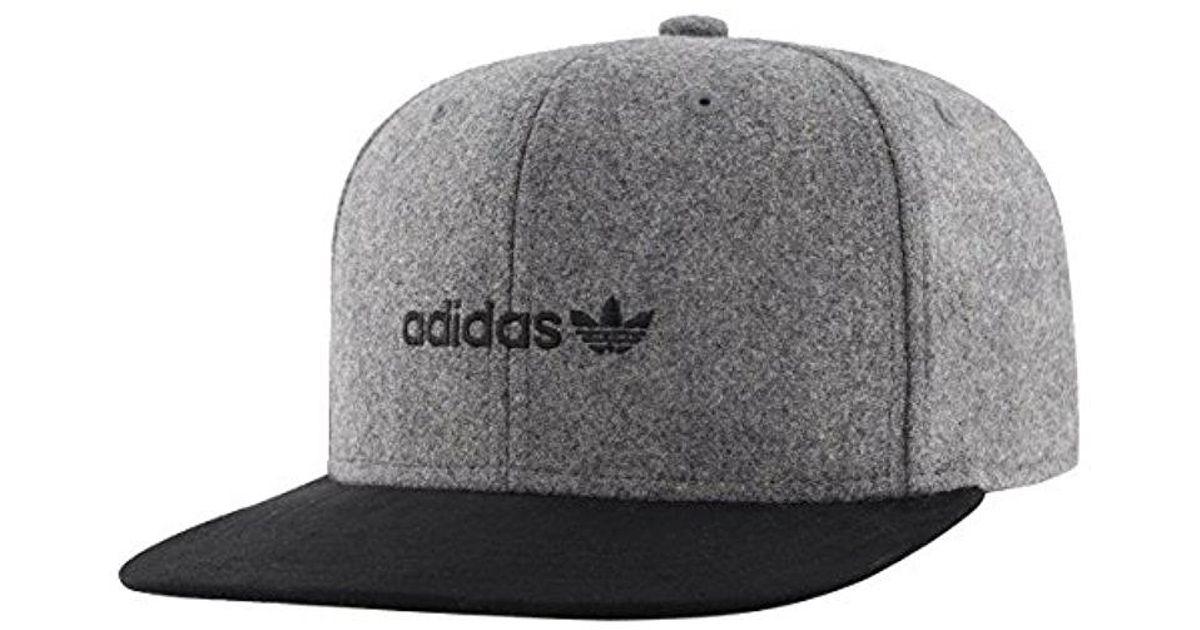 Lyst - adidas Originals Snapback Flatbrim Cap in Gray for Men 519a1794a81