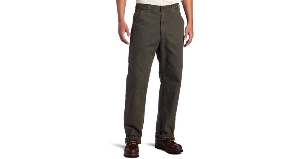 e8500c62 Carhartt Washed Duck Work Dungaree Flannel Lined B111 in Gray for Men - Lyst
